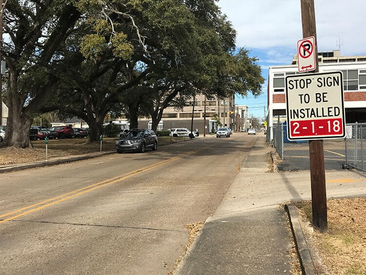 new stop sign notification