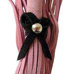 Love Knot Mini Flogger w- Bow – Pink w-Black Bow