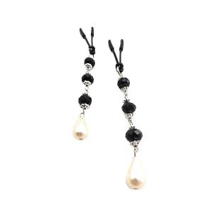 Bijoux de Nip Pearl Black Beads