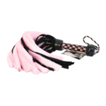 Suede and Fluff MINI Flogger – 18 – Pink-Black