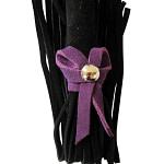 Love Knot Mini Flogger w- Bow – Black w-Purple Bow