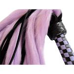 Suede and Fluff MINI Flogger – 18 – Purple-Black