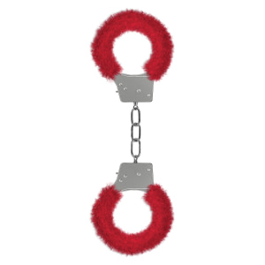 Ouch Beginner's Handcuffs Furry – Red