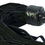 Short Suede Flogger – Black-Black