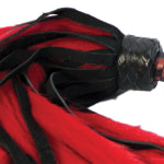 Suede and Fluff MINI Flogger – 18 – Red-Black