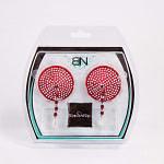 Bijoux de Nip Round Red Crystal Pasties w- Facet Beads