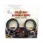 Voodoo Silky Soft Double Wrist Cuffs Black